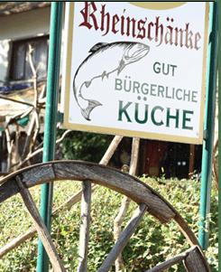 Gut bürgerliche Küche in der Rheinschänke in Leimersheim in der Pfalz