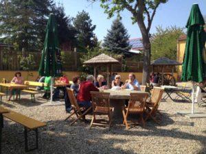 """Speisegaststätte, Biergarten """"Unkenfunk"""" in Germersheim in der Pfalz"""