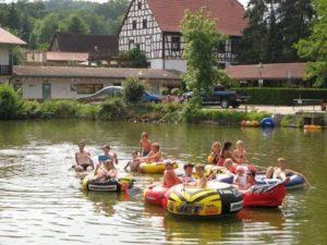 Bootsfahrt auf dem Hetschmühlen-Weiher