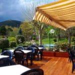 Terrasse mit Blick auf`'s Hambacher Schloss - Restaurant