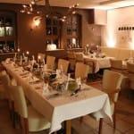 """Gastraum im Restaurant """"Sankt Laurentius"""" in Ramberg in der Pfalz"""
