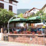 """Außenansicht Weinlokal, Restaurant """"Das Barrique-Gewölbe"""" in Sankt Martin in der Pfalz"""