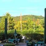 """Die Terrasse der Waldgaststätte """"Naturfreundehaus Bethof"""""""