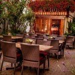 Hotel, Restaurant Zum Riesen in Kandel – Hofterrasse