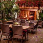 Hotel, Restaurant Zum Riesen in Kandel - Hofterrasse
