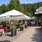 Sportpark Dahn in der Pfalz - die herrliche Terrasse