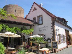 """""""Landgasthaus Zum Engel"""" in Neuleiningen in der Pfalz - Historisches Landgasthaus, Biergarten, Kellergewölbe, Rittermahle"""