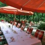 """Wein-, Biergarten, Terrasse """"Goldener Engel"""" in Edesheim in der Pfalz"""