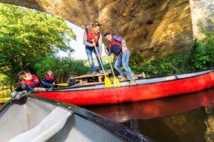 Kanu fahren auf der Glan