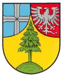 """Wappen der Gemeinde """"Dahn""""."""