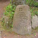 Ritterstein als Denkmal für den Wirt der Hellerhütte, der in der Silvesternacht 1960/61 brutal von der Kimmelbande erschossen wurde