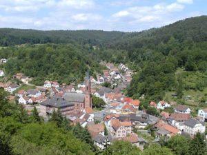 Blick auf Weidenthal in der Verbandgemeinde Lambrecht in der Pfalz