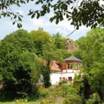 """Ausflugslokal, Biergarten, Pension """"Burgschänke an der Kropsburg"""" bei Sankt Martin in der Pfalz"""