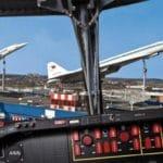 Überschall-Passagierflugzeug Concorde auf dem Gelände des