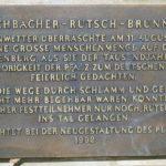 """Inschrift Eschbacher """"Rutsch-Brunnen"""""""