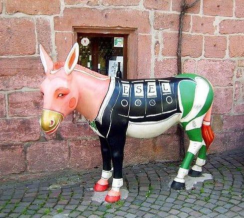 Esel in Eschbach in der Pfalz