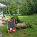 Kiosk am Seehofweiher in Erlenbach bei Dahn