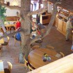 """Gastraum """"Paddelweiher-Hütte"""" - Blick ins Lokal von der """"Tenne"""" aus"""