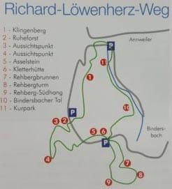 Streckenpunkte Richard-Löwenherz-Weg