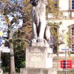 Der Löwe am Deutschen Tor in Landau in der Pfalz