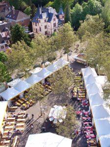 Das Weindorf auf dem Landauer Mai- / Herbstmarkt