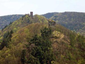 Burgruinen Anebos und Scharfenberg (Münz) bei Annweiler am Trifels