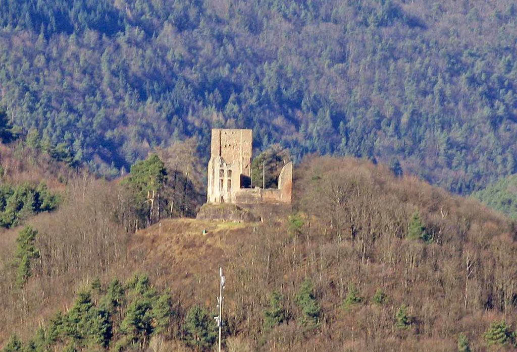 Burgruine Ramburg über Ramberg in der Pfalz