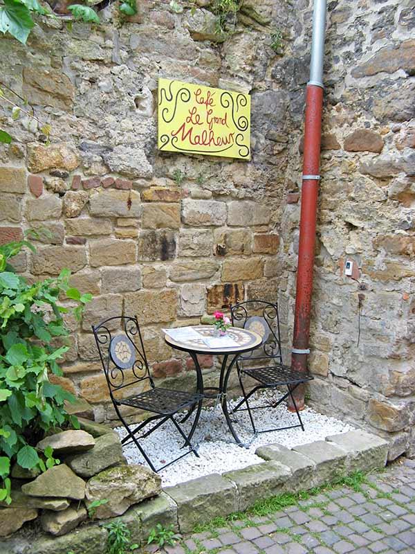"Café ""Le Grand Malheur"" in Freinsheim in der Pfalz"