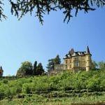 Haardter Schlössel und Burg Winzingen über Neustadt-Haardt in der Pfalz