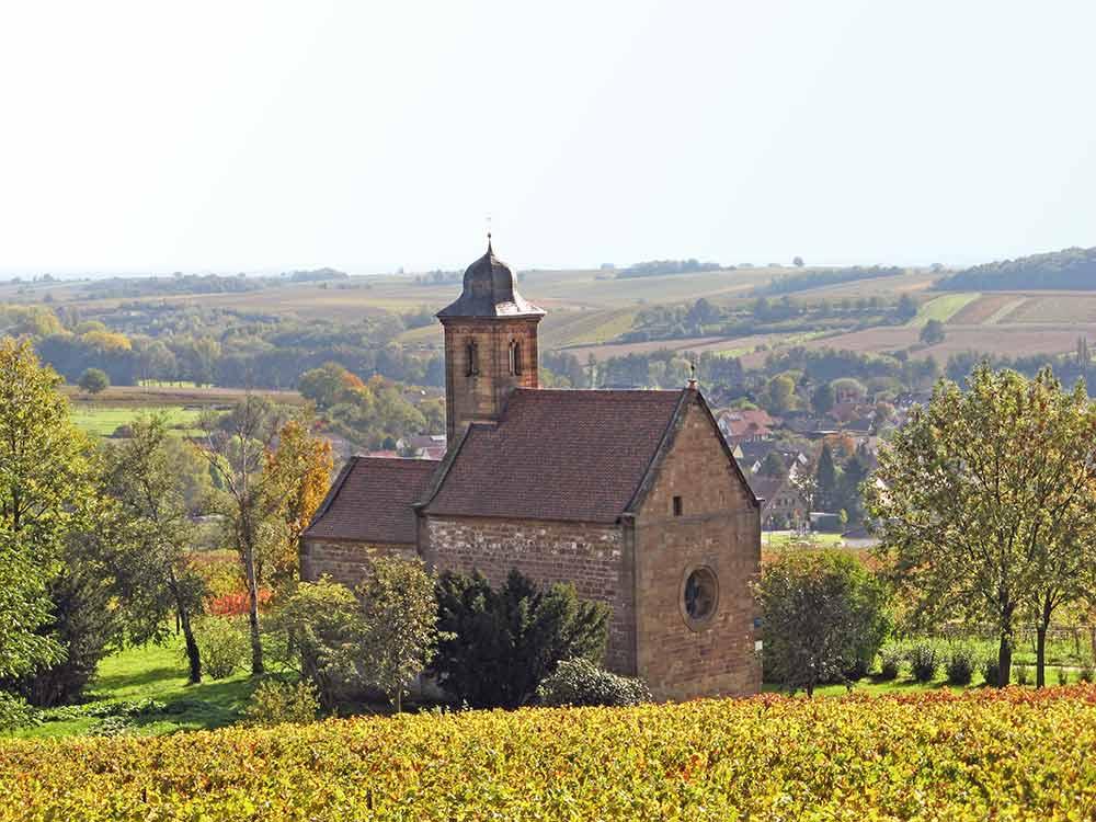 Katholische Nikolauskapelle in Klingenmünster in der Pfalz