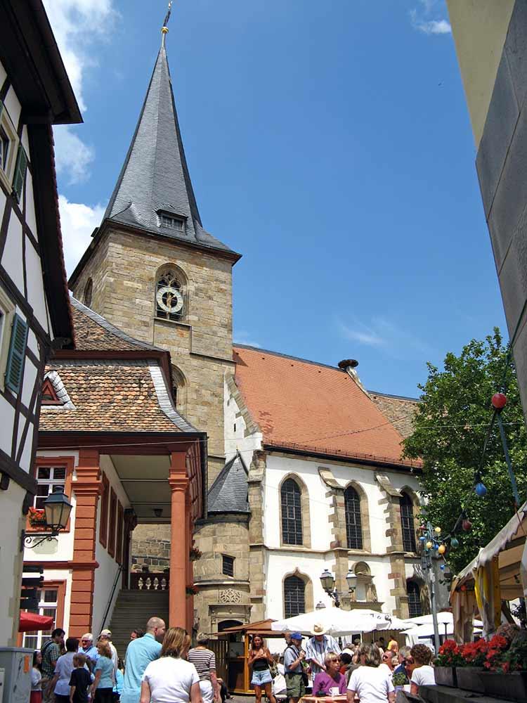 Protestantische Pfarrkirche in Freinsheim in der Pfalz