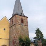 Protestantische Pfarrkirche in Godramstein bei Landau in der Pfalz