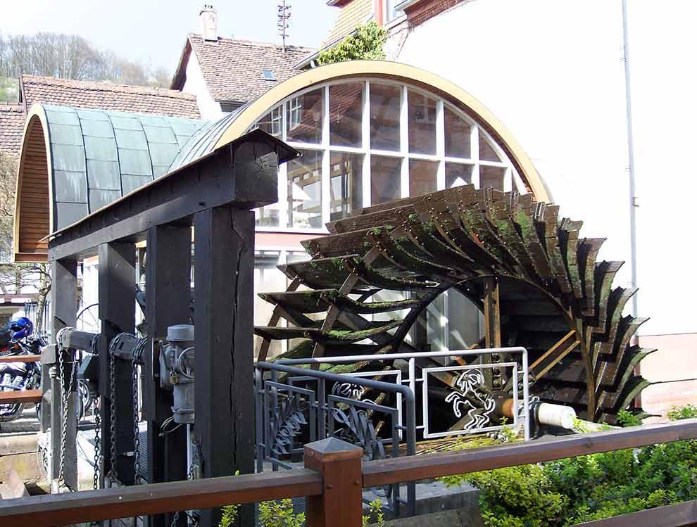 Wasserrad an der Queich in Annweiler am Trifels