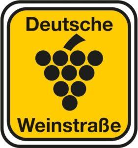 Offizielles Hinweisschild der Deutschen Weinstraße