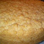 Kruemelkuchen mit Puddingfüllung
