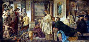 """""""Das Gastmahl des Plato(n)"""" von Anselm Feuerbach - 1874"""