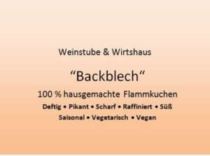 """Backblech"" - Flammkuchenbäckerei in Neustadt"