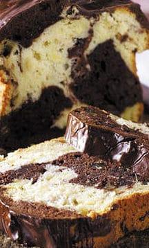 Marmorkuchen mit Kakao