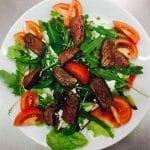 """Salat im italienischen Restaurant, Pizzeria """"Sportpark Dahn"""" in der Pfalz"""