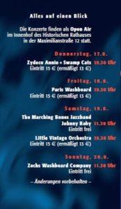 Programm Oldtime Jazz in Speyer