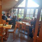 """Der Gastraum der """"Burgschänke an der Kropsburg"""" in Sankt Martin in der Pfalz"""
