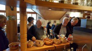 """Buffet in der """"Burgschänke an der Kropsburg"""" in Sankt Martin in der Pfalz"""