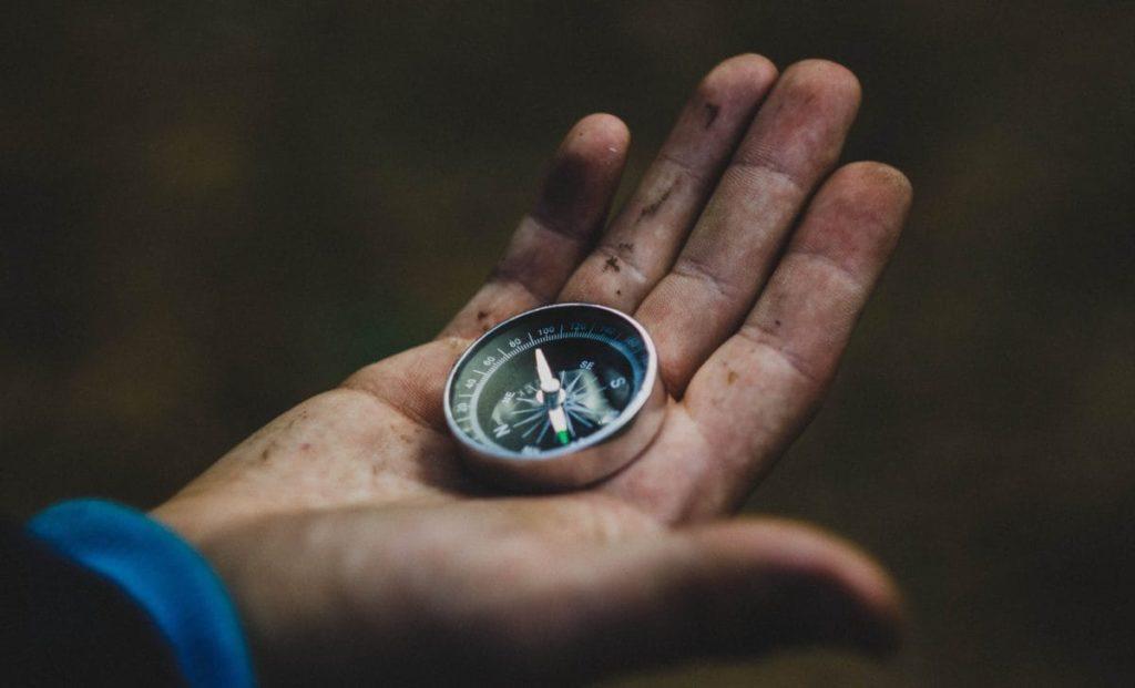 Wandern mit Kompass