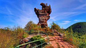 Ehemalige Felsenburg Drachenfels bei Busenberg in der Pfalz