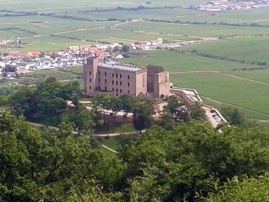 Blick auf das Hambacher Schloss vom Wetterkreuz aus