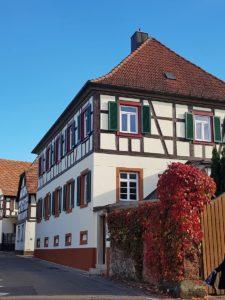Historisches Fachwerkhaus in Rheinzabern in der Pfalz