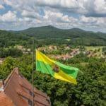 Blick von Burg Bewartstein auf Erlenbach bei Dahn - Foto: Andreas Ott