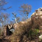 Burgruine Guttenberg bei Dörrenbach im Pfälzerwald in der Südpfalz