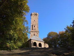 Der Luitpoldturm bei Merzalben in der Pfalz im Sommer