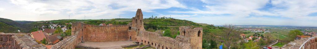 Panoramablick Burg Neuleiningen